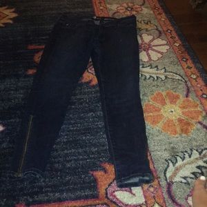 7 jeans with zipper detail at the bottom jeans